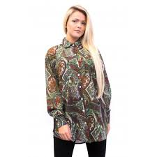 paisley blouse paisley oversized chiffon blouse from parisia