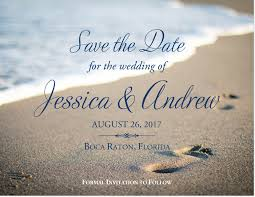 save the date designs footprints wedding save the date and announcement cards