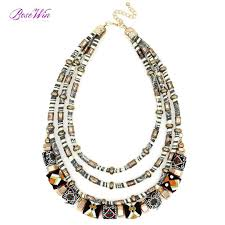 ball necklace chains images Latest women multi layers statement necklace boho style wrap jpeg