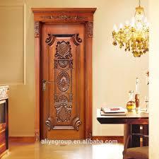 luxury royal european white color wood room door design in china
