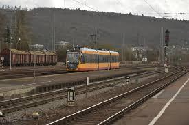 Mosbach Baden Avg Triebwagen 946 Fährt Hier In Neckarzimmern Ein Als S41 Nach
