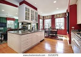 stock photo kitchen with island red walls my diy projects