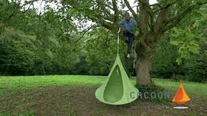 Cacoon How To Hang A Cacoon Hammock On Trees Youtube