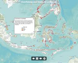 Java World Map by Exploring Threats To Coral Reefs