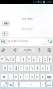 go keyboard apk go keyboard flat white theme 3 2 apk android