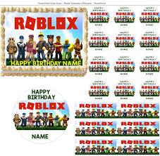 edible cake images roblox edible cake topper image cupcakes cake topper robolox cake