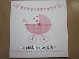personalised handmade congratulations new baby card parents