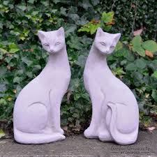 siamese cat cats pair garden ornaments onefold uk