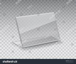 holder empty glass stand display clear stock vector 648615151