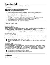 general labor resume objective statements resume objective exles for general labor menu and resume