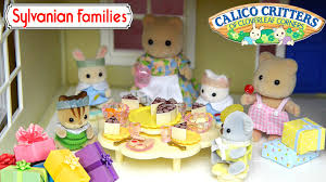 Sylvanian Families Calico Critters Nursery Party Set Unboxing - Sylvanian families living room set