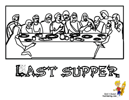 Coloring The Last Supper Coloring Page Last Supper Coloring Page