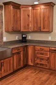 hickory kitchen cabinet design ideas haas door style shakertown rustic hickory pecan
