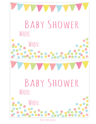 free baby invitation templates free downloadable baby shower