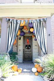 Halloween Outside Decorations Halloween Porch Decorations Crazy Wonderful
