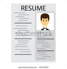 Employment Resume Template Man Showing Insurance Icon Stock Vector 542715703 Shutterstock