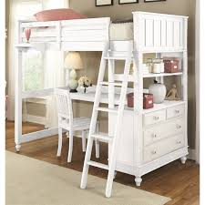 ne kids lake house twin loft bed with desk in white 1040nd