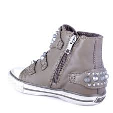 shop ash kids frog trainers in grey leather available online today