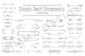 simple swirl ornaments objects creative market