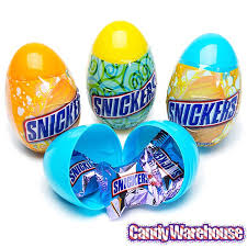 candy filled easter eggs snickers minis candy filled plastic easter eggs 12 display