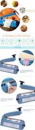 220v electric manual bag sealer seal ring machine food tea plastic