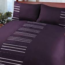 Duvet Cover Purple Modern Striped Duvet Cover Set Bedding Quilt Cover Ribbon Satin