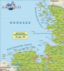 Germany Map Freiburg by Map Of North Sea Coast Germany Map In The Atlas Of The World