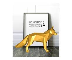 home decoration pdf printable diy template pdf dog low poly paper decoration by