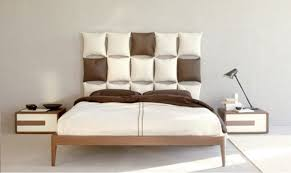 rummy custom cushions headboard low profile king bed with wooden
