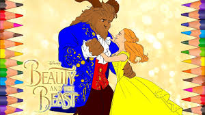disney u0027s beauty and the beast 2017 coloring book pages video for