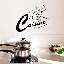 sticker cuisine master chef kitchen room wall stickers home decor cuisine
