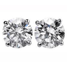 diamond ear studs prince diamond 6 12 carats diamond gold stud earrings at 1stdibs