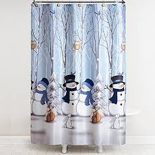 Curtain With Hooks Saturday Winter Friends Shower Curtain With Hooks Bed