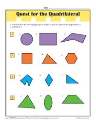 third grade quadrilaterals on resume with third grade