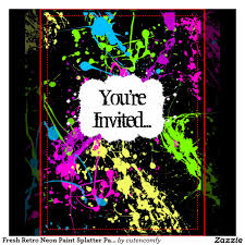 neon party supplies party invitations best neon party invitations design free