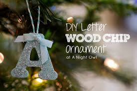 diy sted wood chip letter ornament a owl