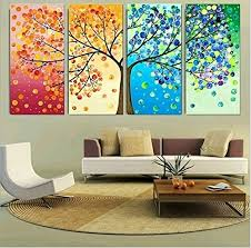 tree of life home decor geves unframed 4 pieces colorful seasons tree of life giclee print