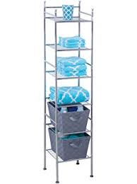 Bathroom Storage Chrome Vonhaus 4 Tier Chrome Bathroom Storage Organizer Stand