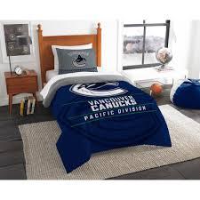 Hockey Bedding Set Nhl Canucks Draft 2 Multi Color Polyester Comforter Set