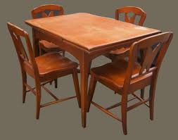 Maple Dining Room Set by Uhuru Furniture U0026 Collectibles 1950 U0027s Maple Dining Table W 5