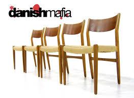 mid century danish modern wegner dining table chair set danish mafia