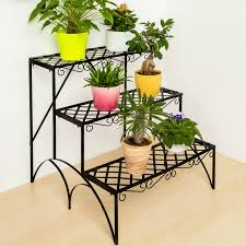 ikea flower pots a plant stand in shape a ladder filled