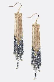 Aegean Chandelier Earrings Turquoise Blue Jaden Chandelier Earrings On Emma Stine Limited Jet Crystal