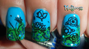 lotus pattern nail art stamping template m66 born pretty store