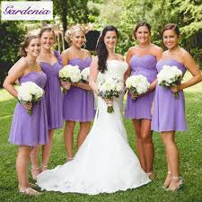 bridesmaid dresses for summer wedding summer style lavender a line wedding gowns draped knee