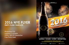 2016 new years eve flyer template flyer templates creative market