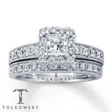 white gold bridal sets jewelers diamond bridal set 1 1 6 ct tw princess cut 14k white
