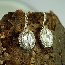 kate middleton wedding day art deco teardrop earrings bridal