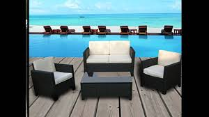 Patio Furnitures by Miami Beach Collection 4 Pc Outdoor Rattan Wicker Sofa Sectional