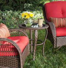 Lazyboy Outdoor Furniture Bristol Patio Bistro Set Scarlet Red 3 Piece U2013 La Z Boy Outdoor